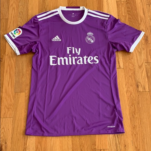 Adidas Purple Fly Emirates Soccer Jersey Size s